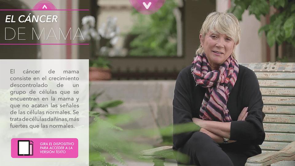 aplicación móvil cáncer de mama